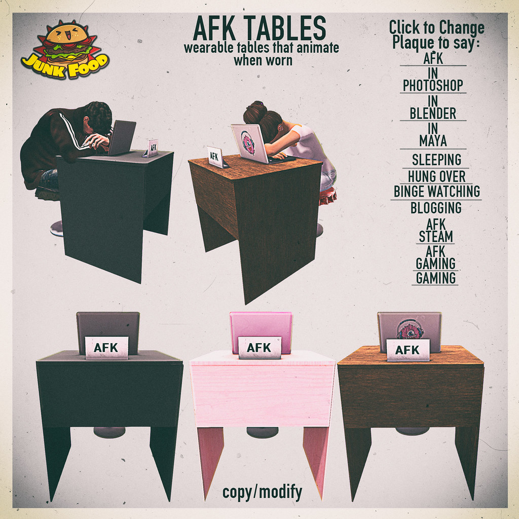 Junk Food -AFK Tables Ad - TeleportHub.com Live!