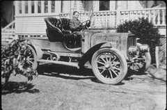 Fountain N Taliaferro III,  1894-1949... probably about 1904-5 in the Augustin Lumber yard truck at the house of Louise Augustin on Broadway Hicksville NY