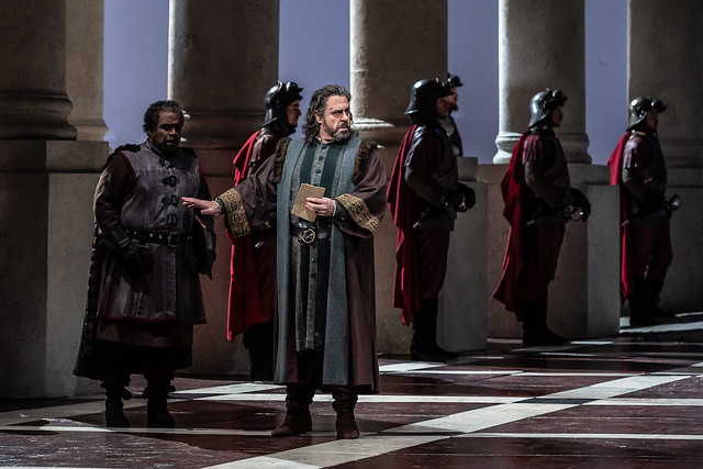 Carlos Álvarez as Simon Boccanegra in Simon Boccanegra, The Royal Opera © 2018 ROH. Photograph by Clive Barda
