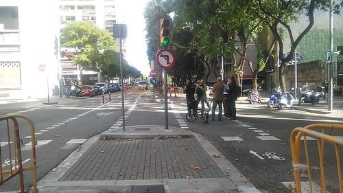 Carril bici carrer Mineria