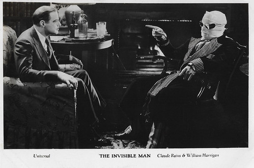 Claude Rains and William Harrigan in The Invisible Man (1933)