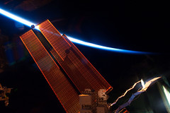 International Space Station solar array wings. Original from NASA. Digitally enhanced by rawpixel.