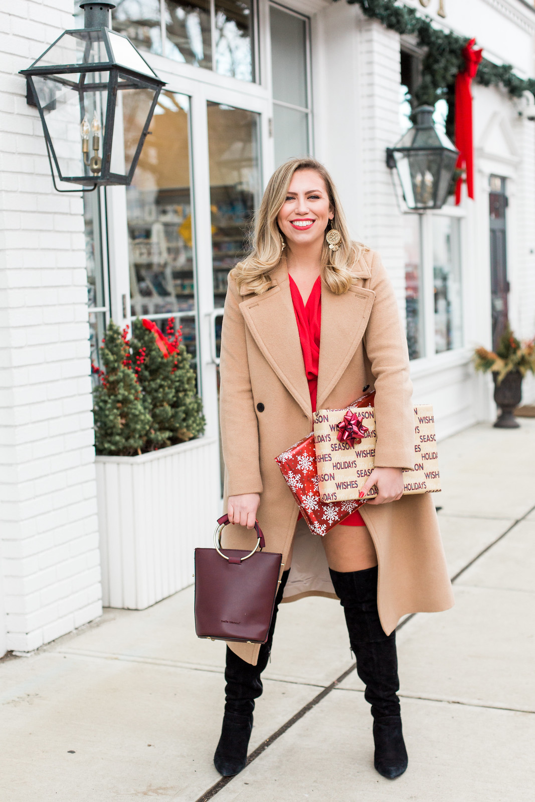 Club Monaco Daylina Camel Coat | 10 Classic Winter Coats You'll Never Regret Buying | Darien, CT Kristina Staal Photography