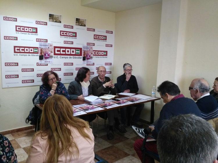 CCOO reune a su ejecutiva en La Línea para expresar su respaldo a las demandas de la ciudad