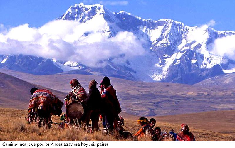 Camino Inca, los Andes
