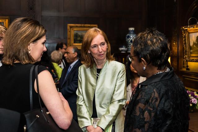 Lorraine Hawley, Ambassador Haber, Cynthia Bunton