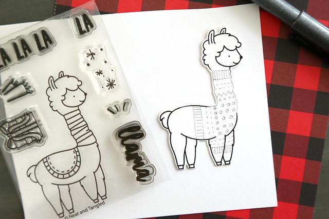 A sweatered llama