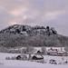 Der Pfaffenstein im Winter by Sandsteiner
