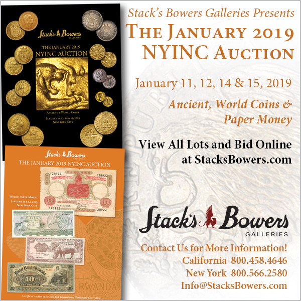 Stacks-Bowers E-Sylum ad 2018-12-09 NYINC
