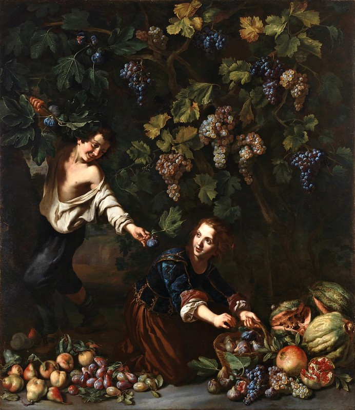 Michelangelo Cerquozzi - Niños cogiendo fruta