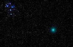 Plejaden und Komet 46P/Wirtanen