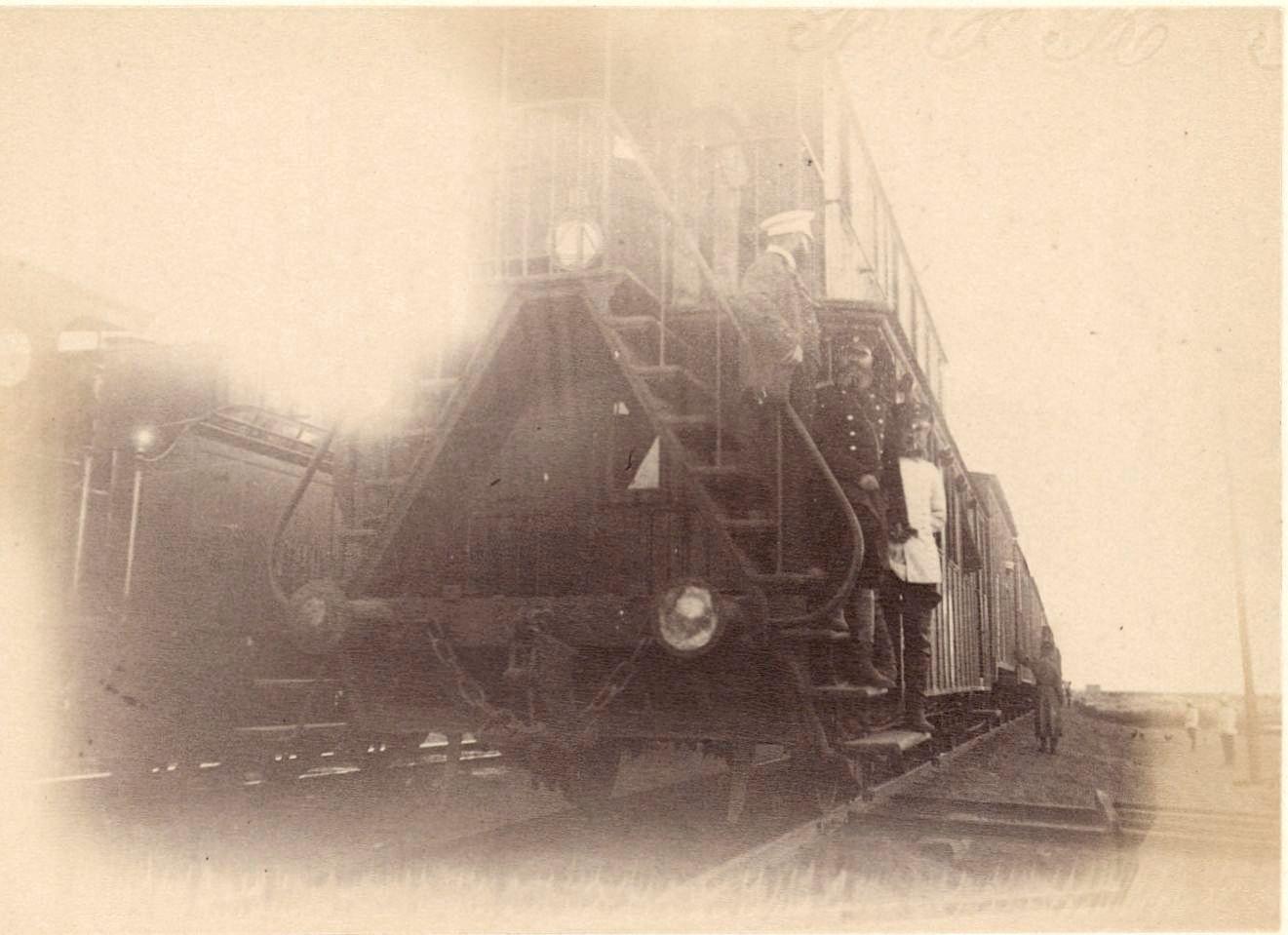 Задняя часть поезда с полковником Покаловым