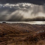 A stormy Loch Kishorn from Bealach na Ba road.