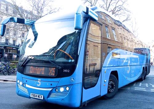 XX64 WCV 'Stagecoach East' No. 54312 'X5'. Volvo B11R / Plaxton Elite. on Dennis Basford's railsroadsrunways.blogspot.co.uk'