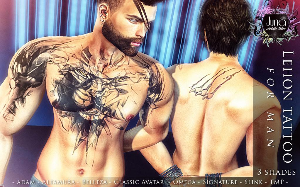 Lehon tattoo for man