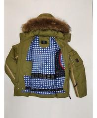 Горнолыжная мужская куртка Bogner 6818 -35 °C (хаки) пуховик