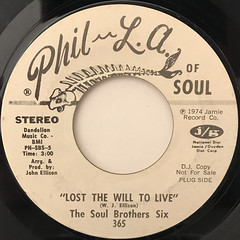 THE SOUL BROTHER SIX:LOST THE WILL TO LIVE(LABEL SIDE-A)