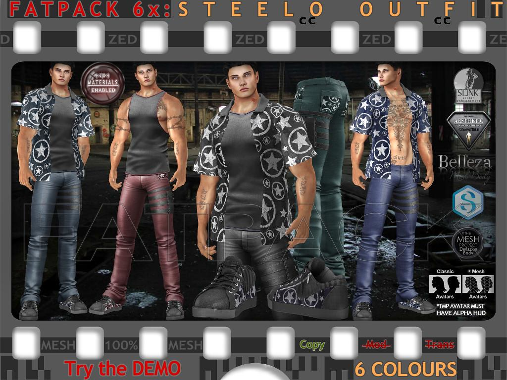 FATPACK 6x ZED MESH Steelo Outfits - TeleportHub.com Live!