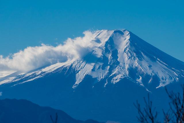 富士山は荒れている@権現山