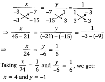 NCERT Solutions for Class 10 Maths Chapter 3 Pair of Linear Equations in Two Variables e5 1d