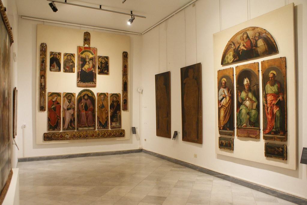 A l'intérieur du musée de l'Académie des Beaux Arts ligures à Gènes.
