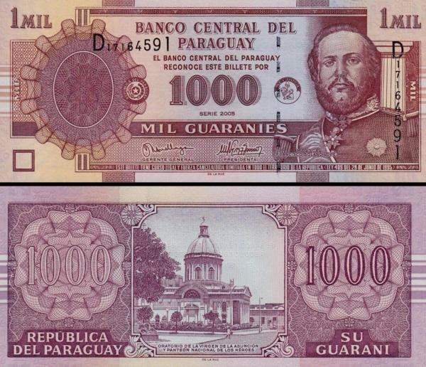 1000 Guaranies Paraguaj 2005, P222b