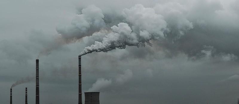 來自燃煤電廠的二氧化碳排放。資料照片,擷取自聯合國網站。