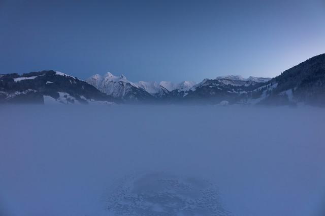 Frozen Sihlsee, Sony DSC-RX10, 24-200mm F2.8