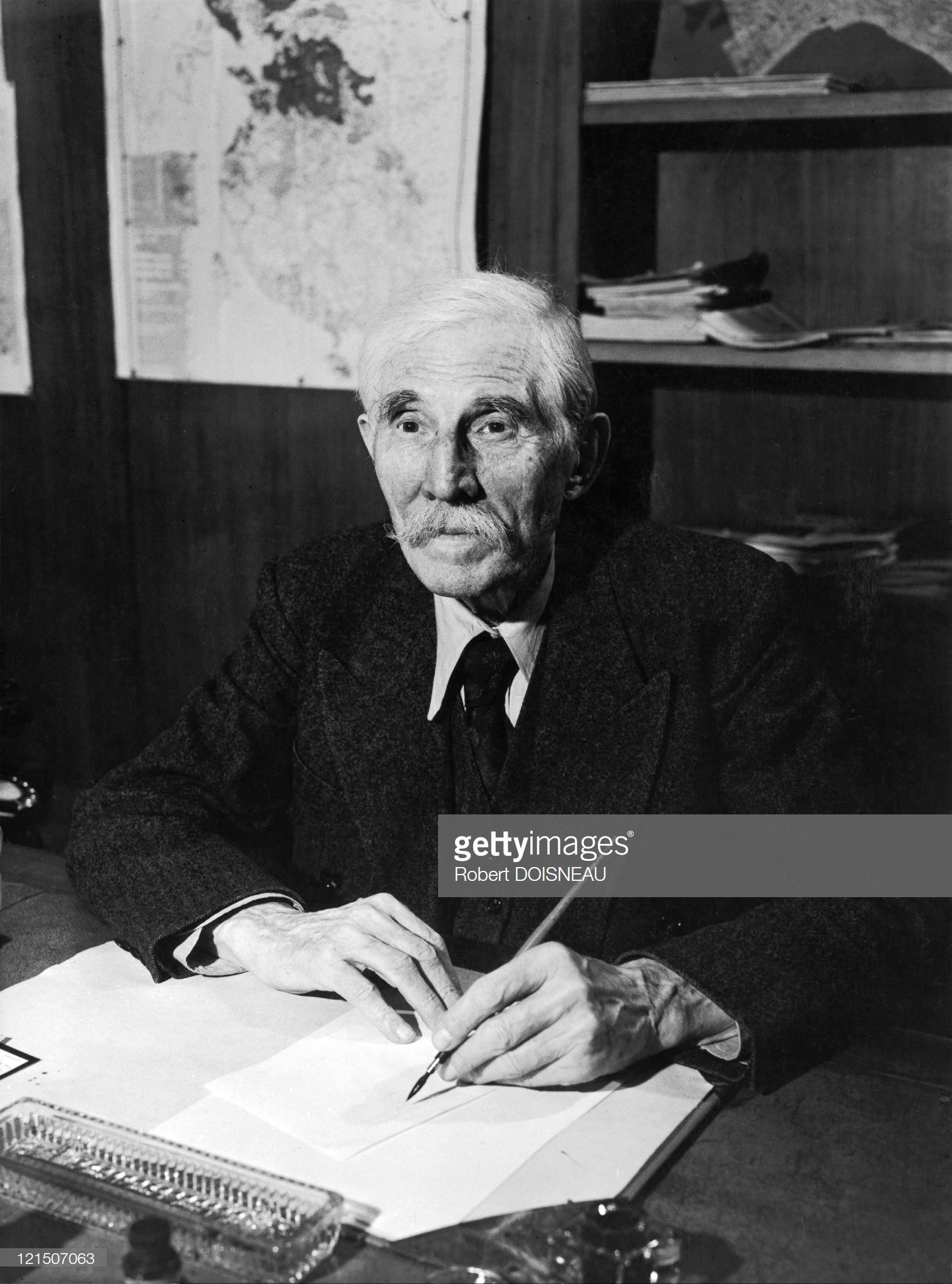 1949. Марсель Кашен. Один из основателей Коммунистической партии Франции, который также был редактором газеты Юманите