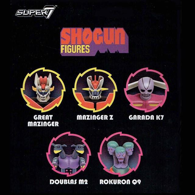 Super7 ReAction Figures 系列《無敵鐵金剛》五款機體參戰 Shogun ReAction Figures 3.75 吋吊卡玩具
