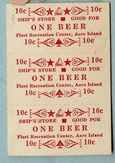 10C for One Beer, Fleet recreation Center, Aore Island