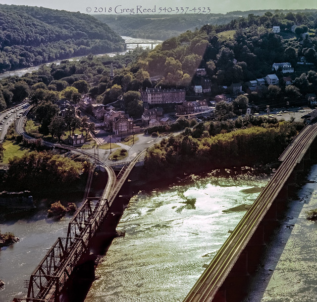 Harpers Ferry from overlook 1976