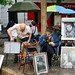 10. Plaza de los pintores de París en el barrio de Montmartre