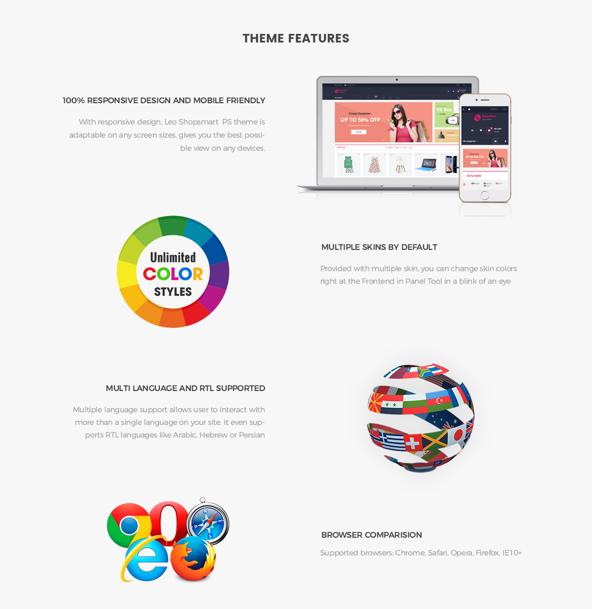 Prestashop theme feature - Leo Shopsmart Prestashop theme - Hitech store