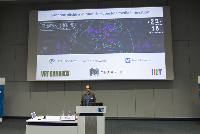 Sandbox pitching in Munich, 22 November 2018