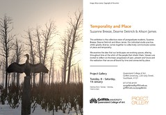 Temporality and Place. A Real Life Exhibit showing my Second Life art.
