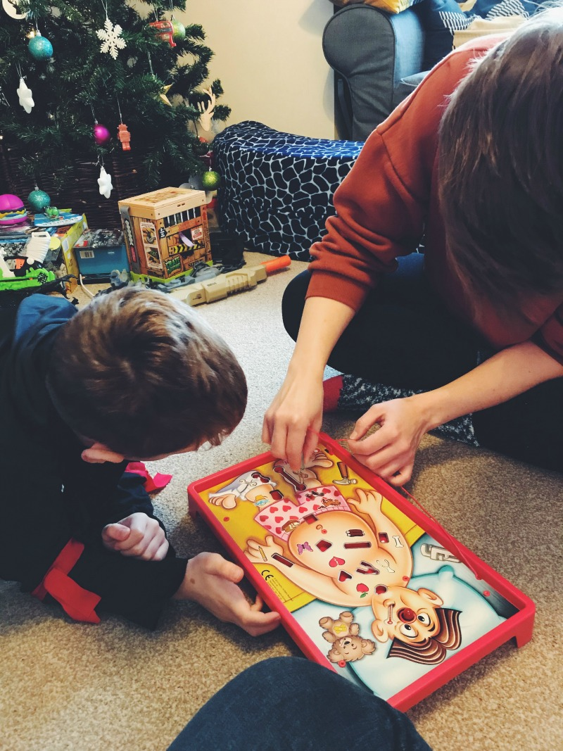 Operation game at Christmas