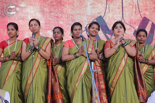 Welcome song by devotees from Mapusa
