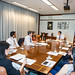 President Nakao meets with younger staff