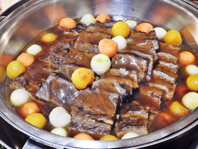 Braised Short Rib Of Beef With Winter Mushrooms