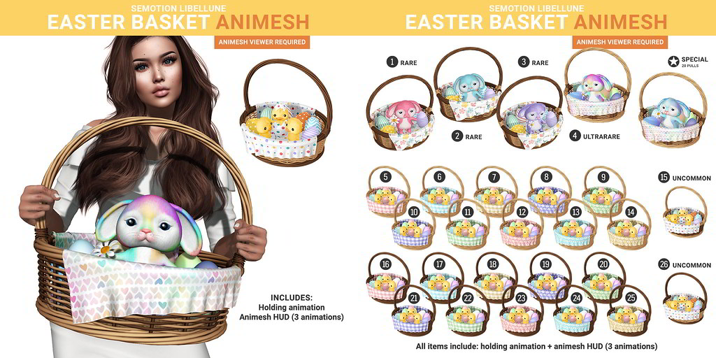 SEmotion x Libellune Easter Baskets Animesh
