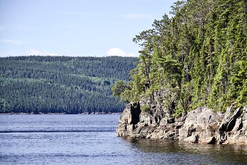 La rivière Saguenay, Québec, Canada.