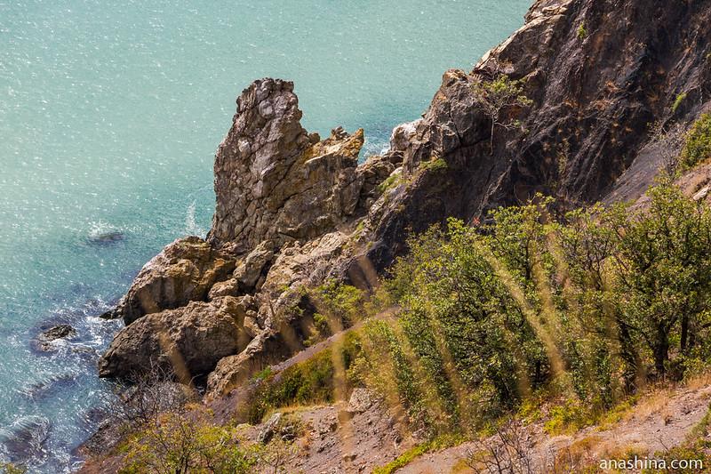 Скала в море, Крым