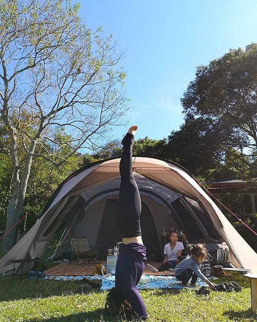 20181125 一露一倒立 #歐北露 #campinglife #campingheadstand #iloveheadstands #倒立世界 #headstand #攝手老戴 #一露一倒立