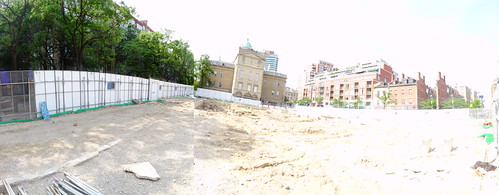 Pano of excavation of the North St Lawrence Market, 2017 06 28 -b