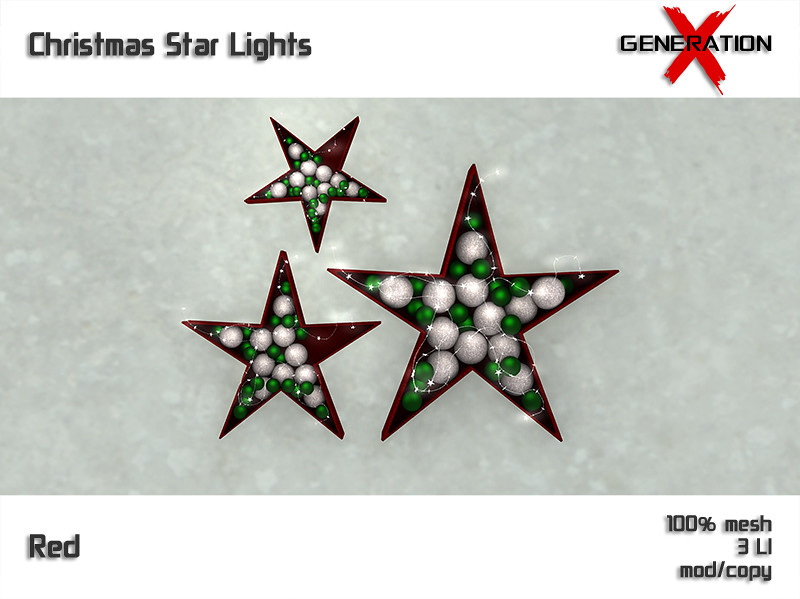 [ Generation X ] Christmas Star Lights - Red - TeleportHub.com Live!