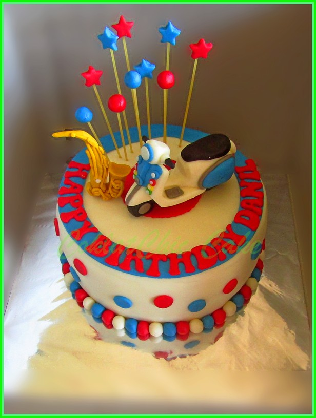 cake Vespa DANIL 15 cm