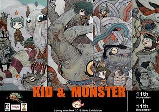 獵奇、詭譎的氛圍令人無法抗拒! 1000Tentacles Studio 個展《怪獸與小孩》Kid & Monster  將在11月於泰國曼谷開展!