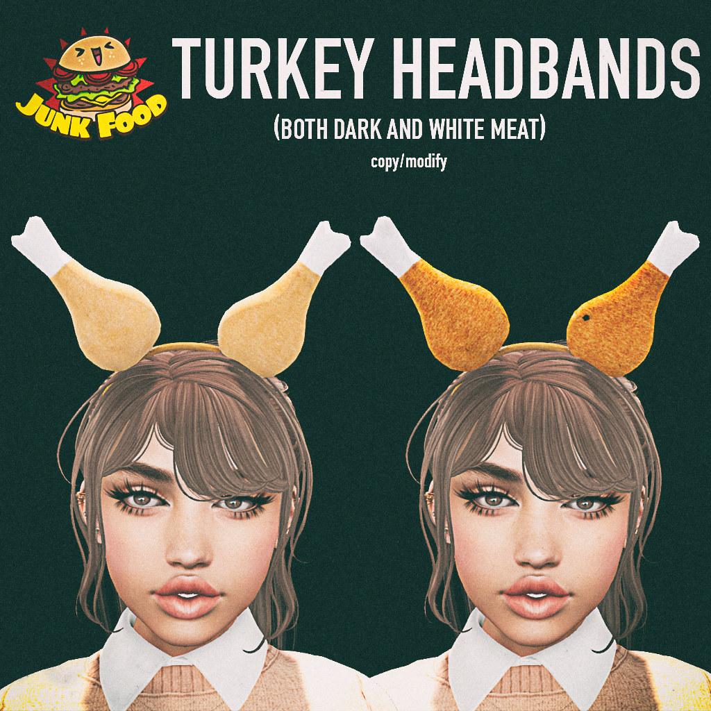 Junk Food - Turkey Headbands - TeleportHub.com Live!