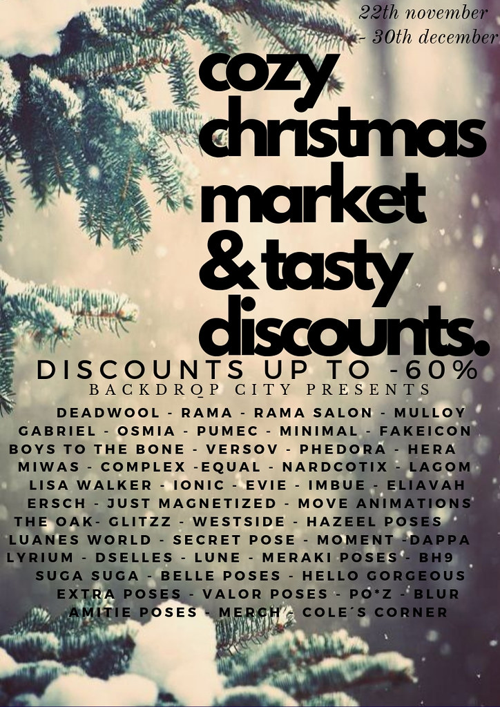 Backdrop City presents a cozy discount christmas market